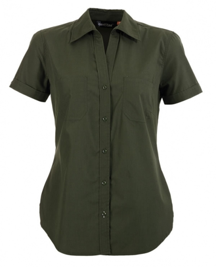Ladies Harley Business Shirt  (Military)