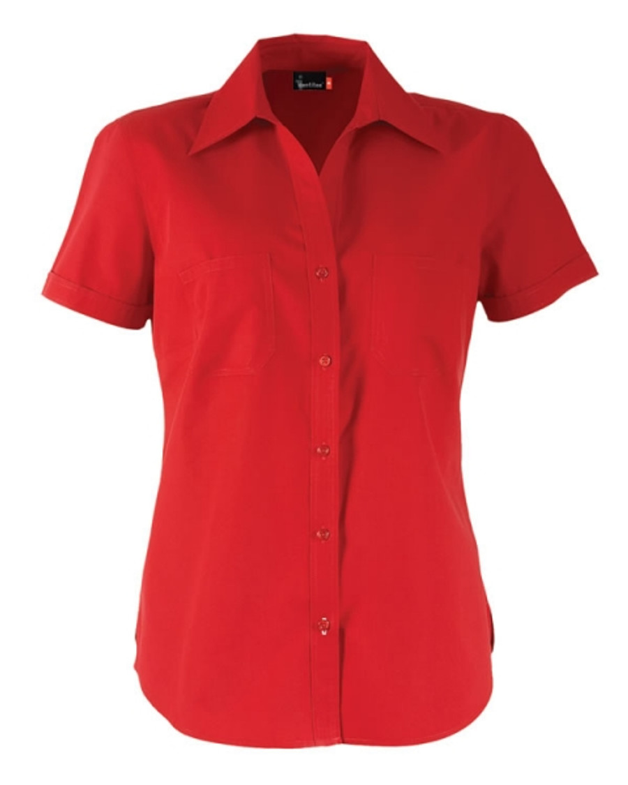 Ladies Harley Business Shirt  (Red)