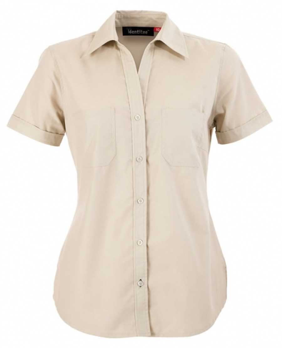 Ladies Harley Business Shirt  (Sand)