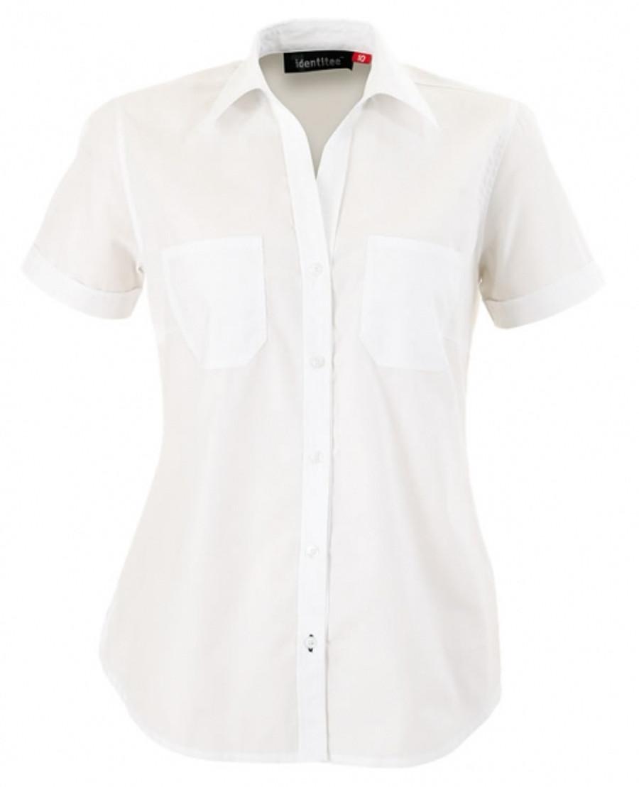 Ladies Harley Business Shirt  (White)