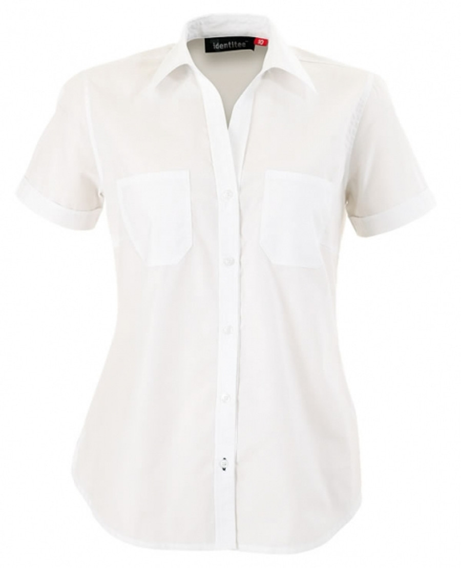 Ladies Harley Business Shirt  (White)