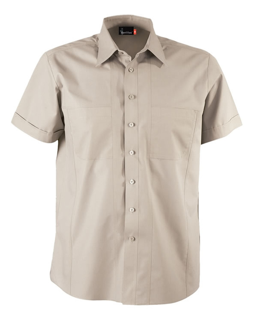 Mens Aston Business Shirt (Stone)