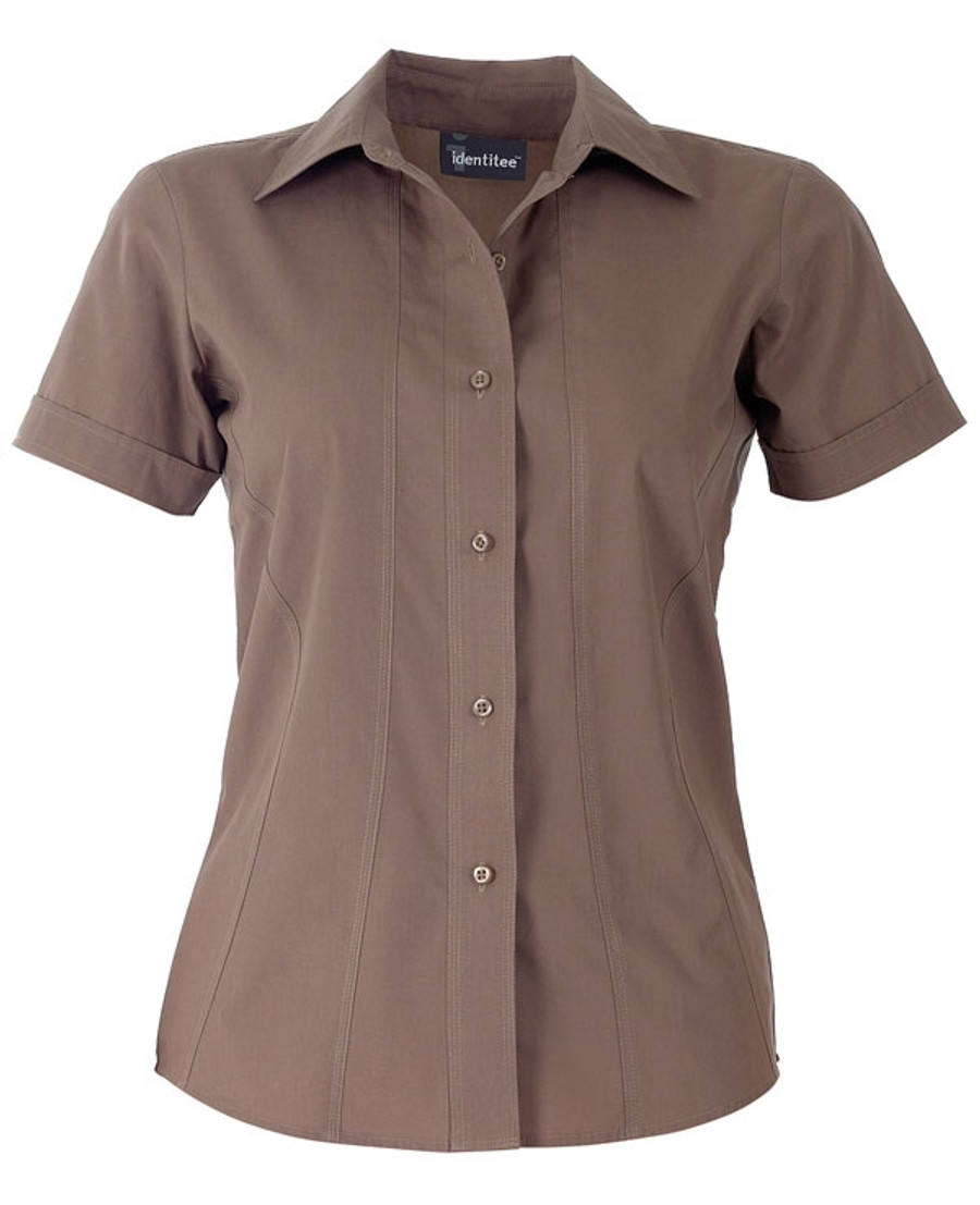 Ladies Aston Business Shirt (Mocha)