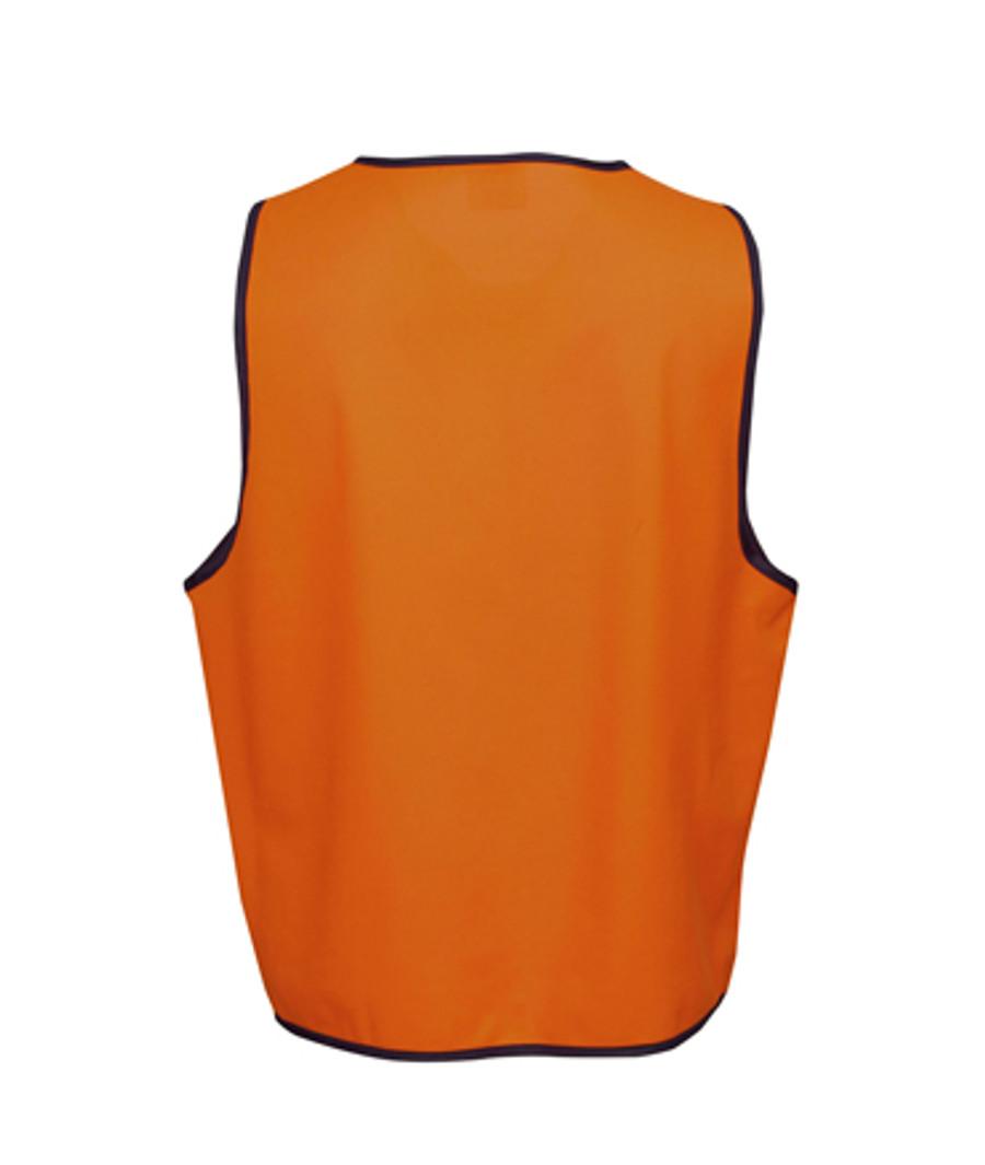 Safety Vest - Fluoro Orange/Navy (Back)