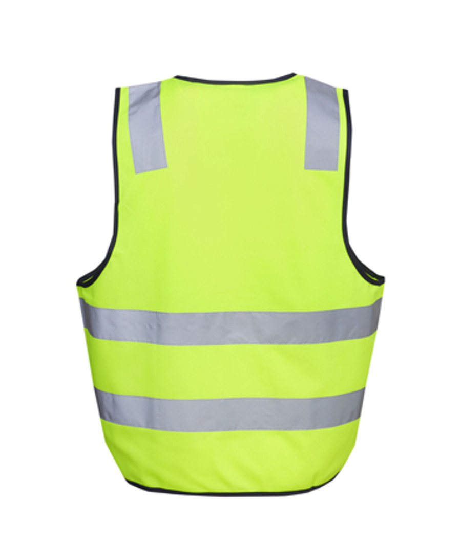 Safety Vest with H Pattern - Fluoro Yellow/Navy (Back)