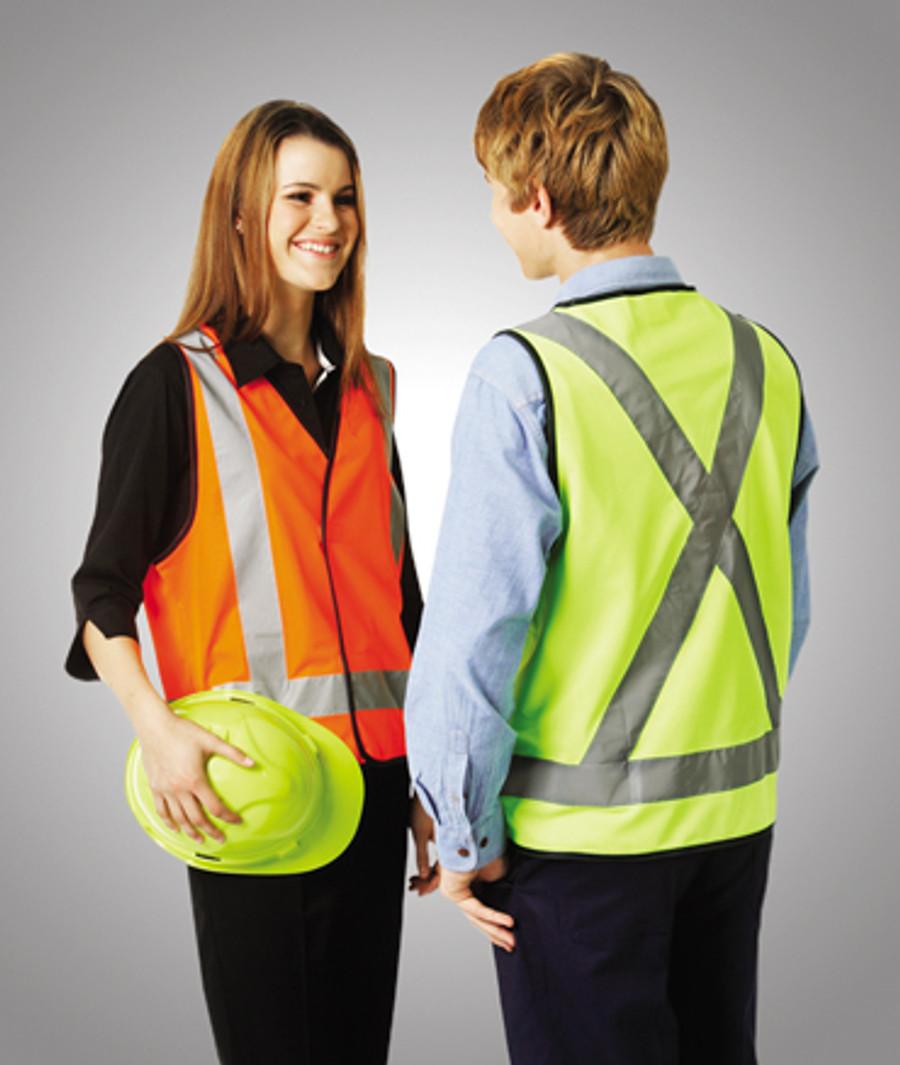 Safety Vest with X Pattern