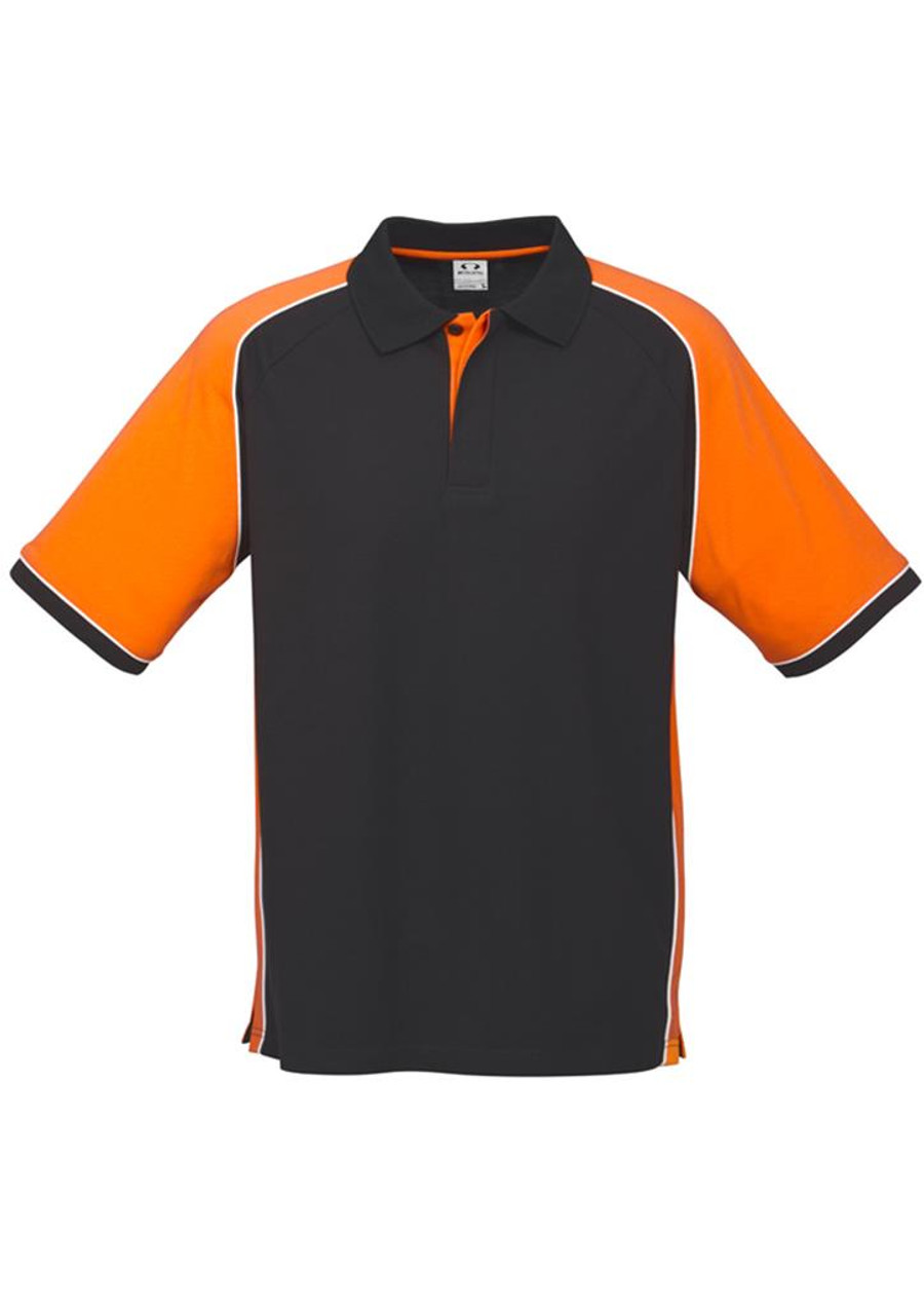 Mens Nitro Polo Shirt (Black/Orange)