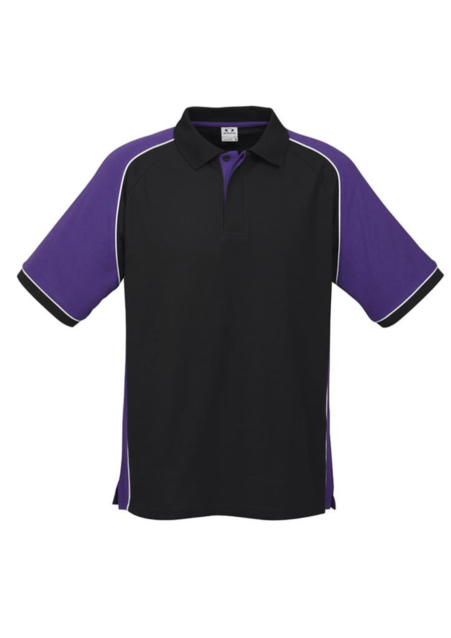 Mens Nitro Polo Shirt  (Black/Purple)