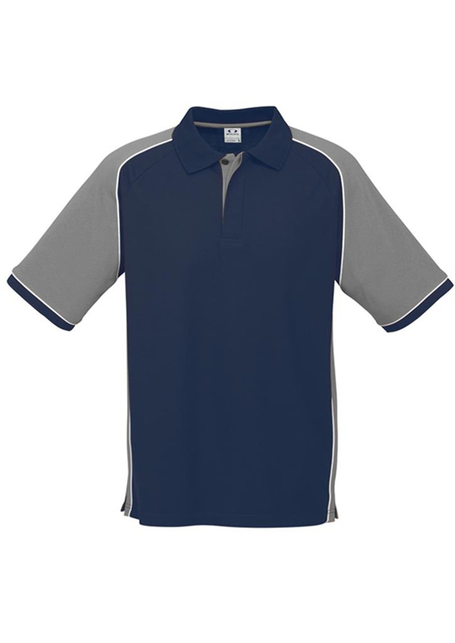 Mens Nitro Polo Shirt  (Navy/Grey)