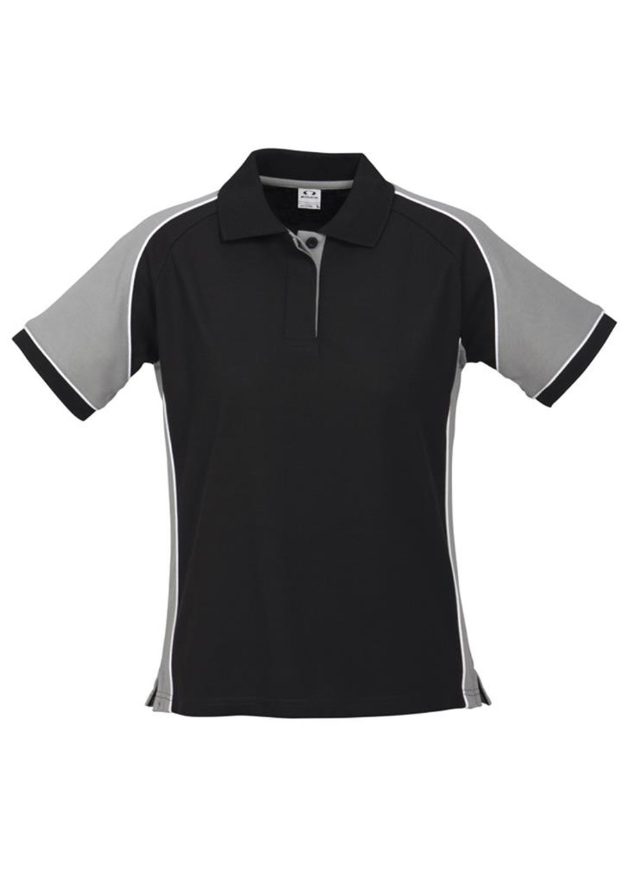 Ladies Nitro Polo  (Black/Grey)