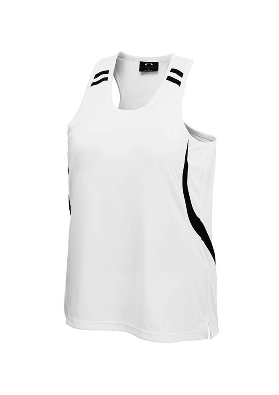 Mens Flash Singlet (White/Black)
