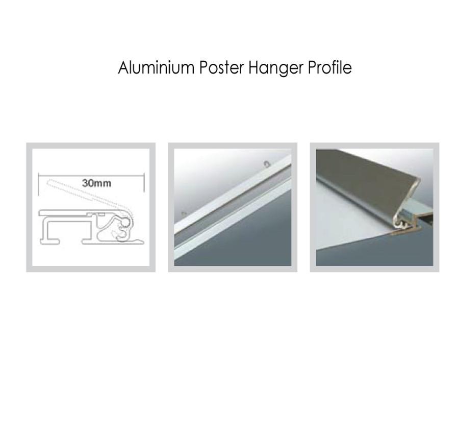 Slim-Line Aluminium Poster Hanger Profile
