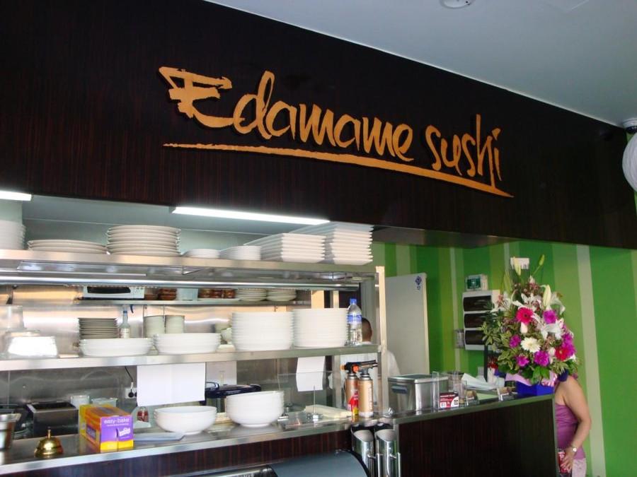 Sushi Timber 3D Sign
