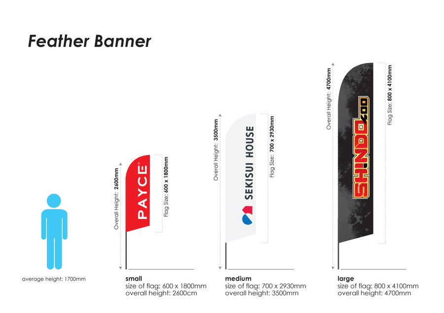 Feather Banner - Size Options