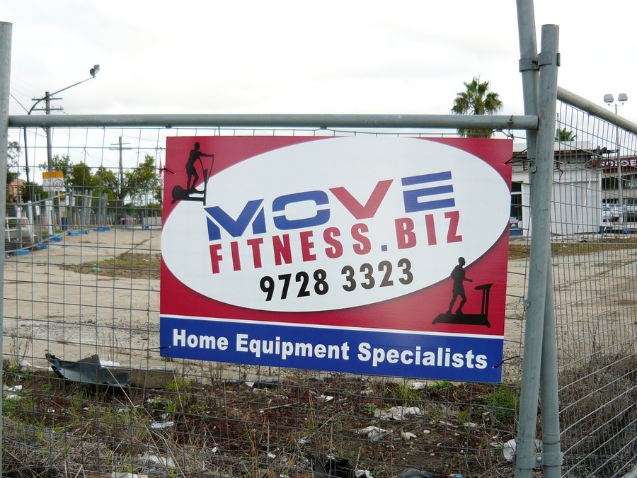 Temporary Fence Sign