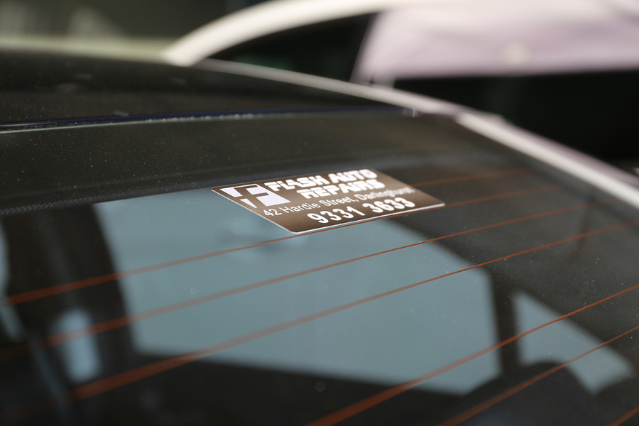 Flash Vehicle Window Decals