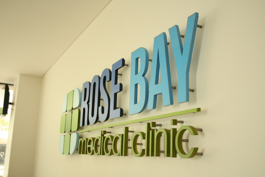 3D Acrylic Logo Raised off Wall for Floating Effect