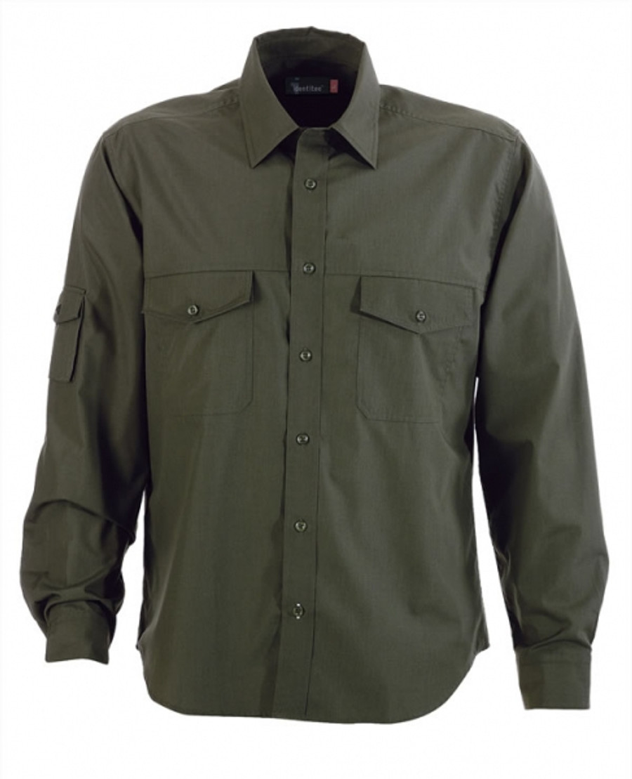 Mens L/S Harley Business Shirt (Military)