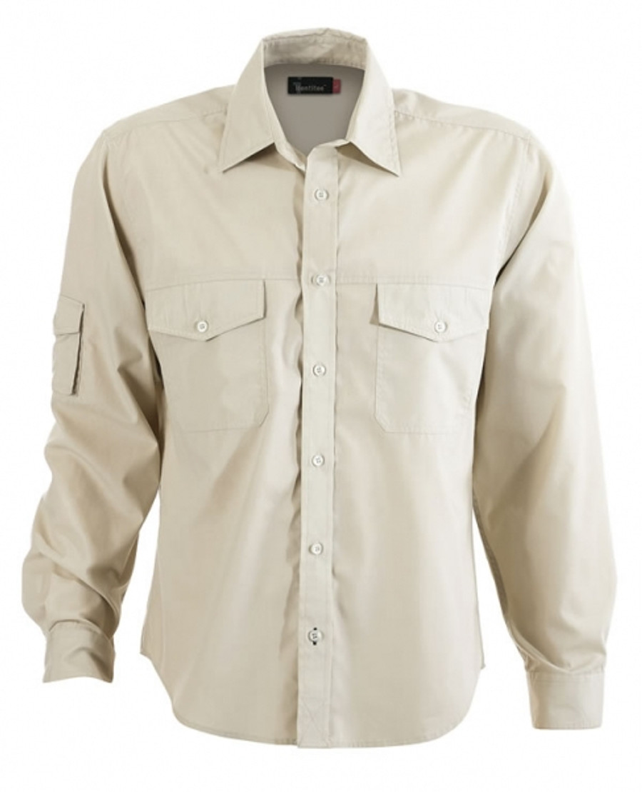 Mens L/S Harley Business Shirt  (Sand)