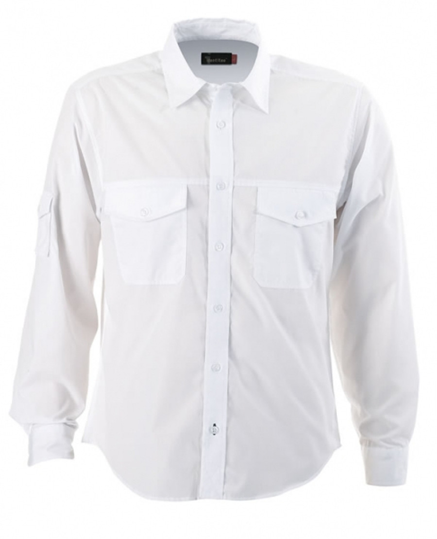 Mens L/S Harley Business Shirt (White)
