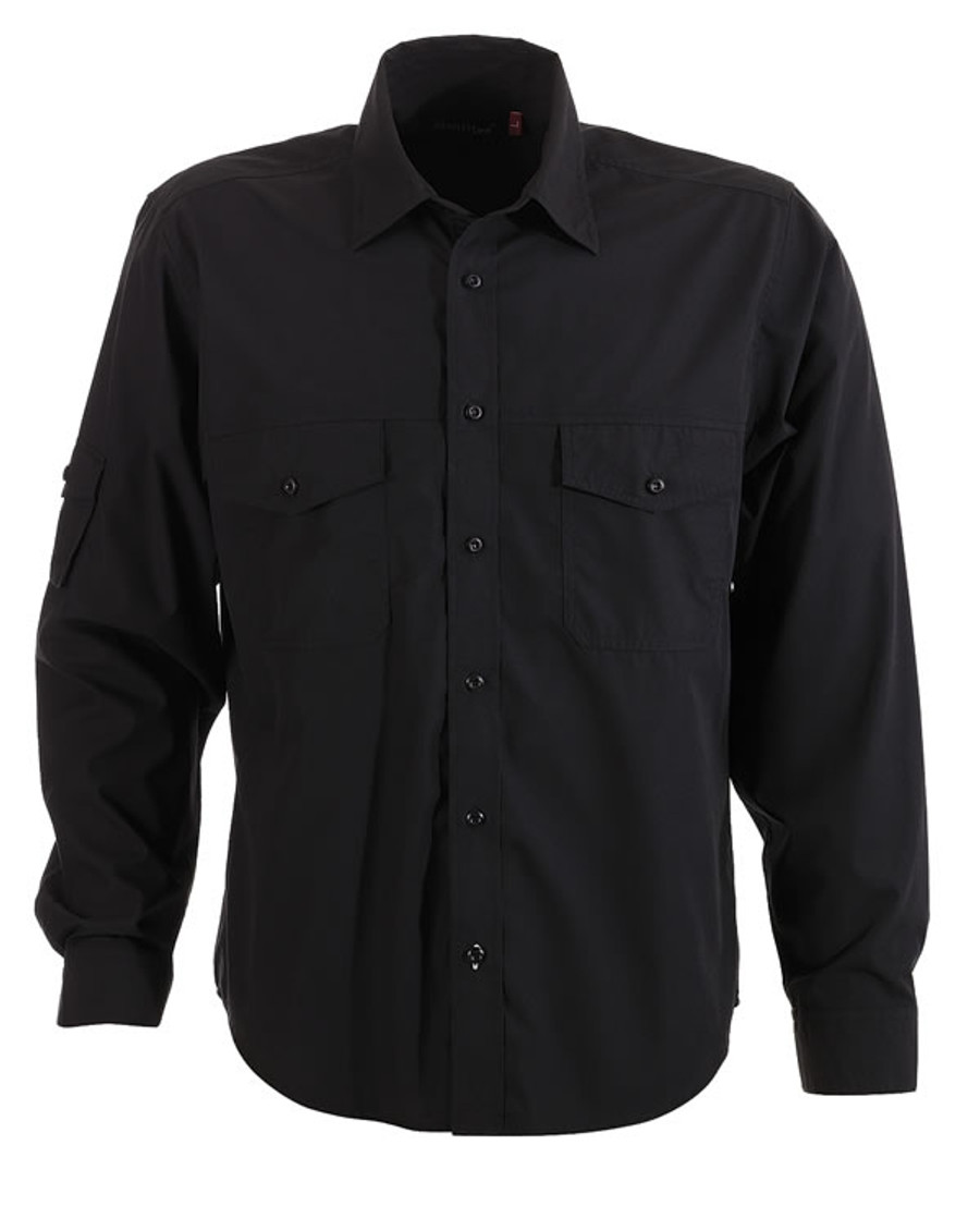 Mens L/S Harley Business Shirt (Black)