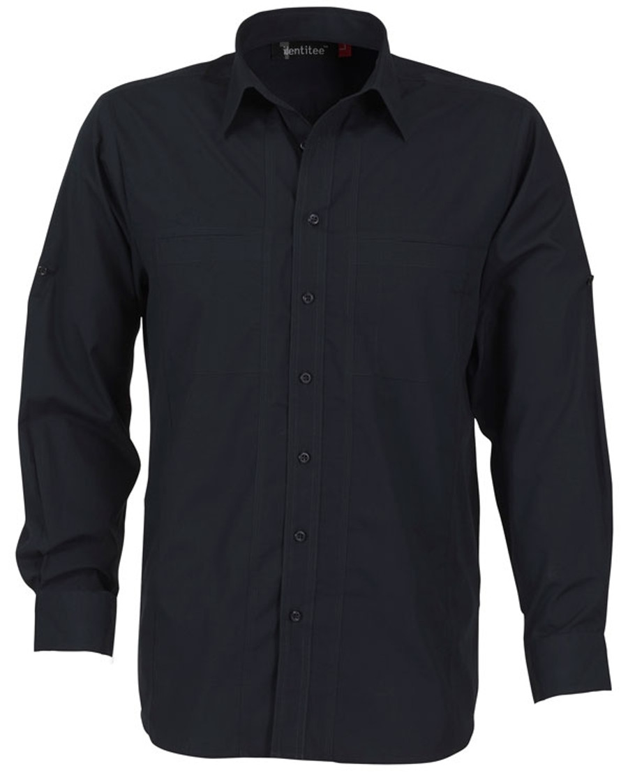 Mens L/S Aston Business Shirt (Ink)
