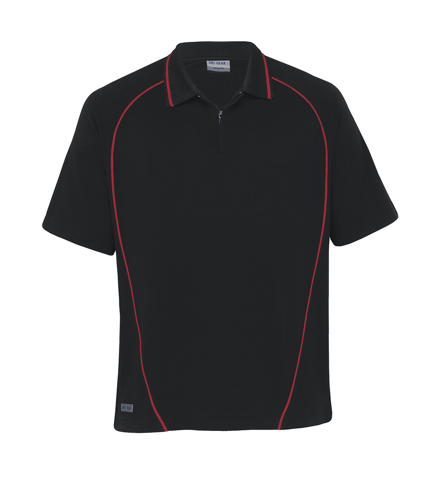 Piped Ottoman Instinct Polo (Black/Red)