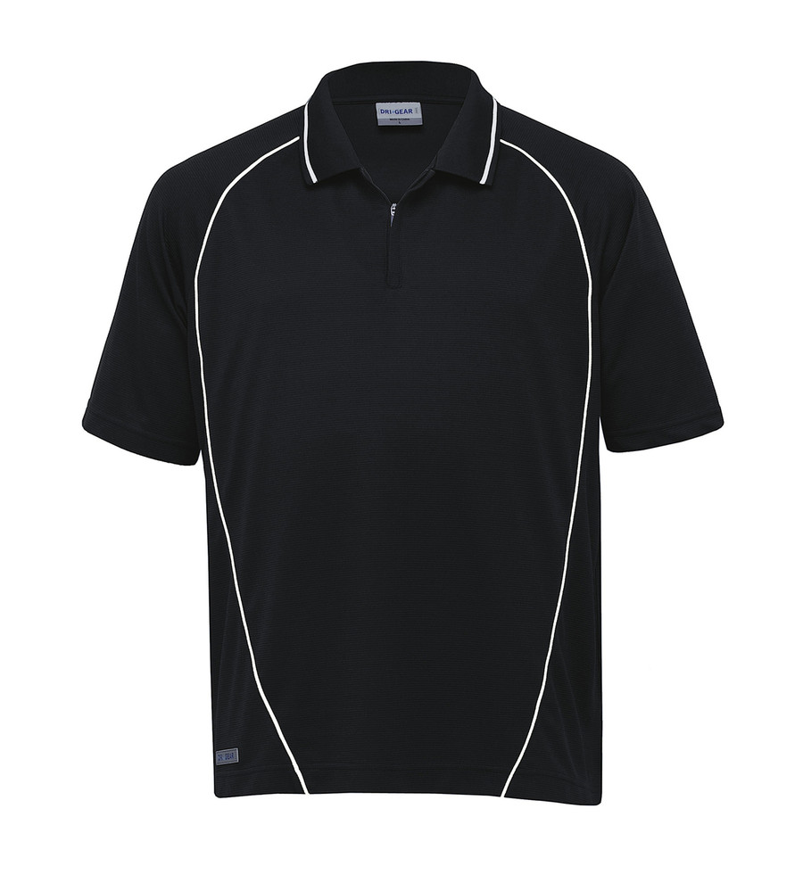 Piped Ottoman Instinct Polo (Black/White)