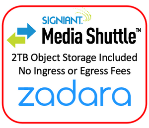 Monthly Fast Video File Transfer With 2TB Zadara Object Storage. Egress Bandwidth Included