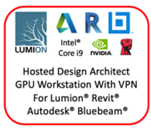 Monthly Hosted NVIDIA RTX4000 8GB GPU Workstation for Lumion, Revit, Bluebeam, Adobe & CAD Apps