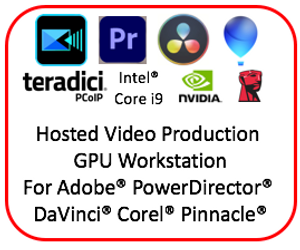Monthly Hosted NVIDIA RTX4000 8GB GPU Media Production Workstation with Teradici PCoIP