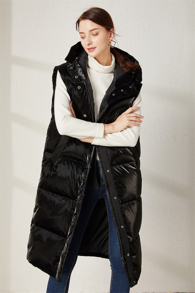 Women's long down jacket FO-0726-1