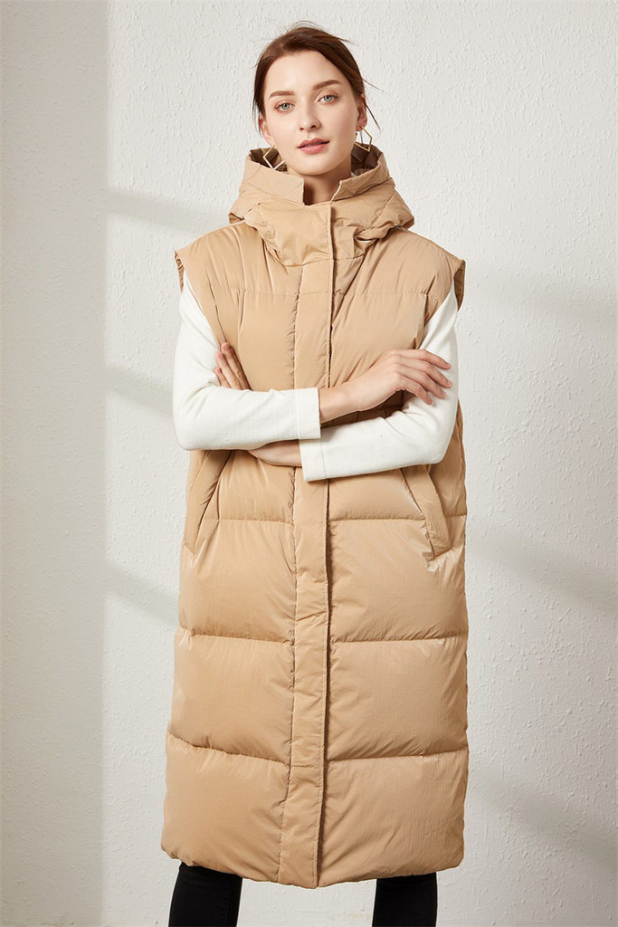 Women's long down jacket FO-0726-2