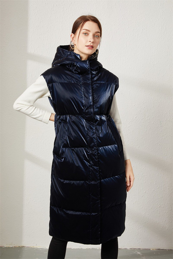 Women's long down jacket FO-0726-3