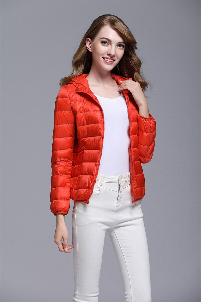 Women's short down jacket FO-0711-8