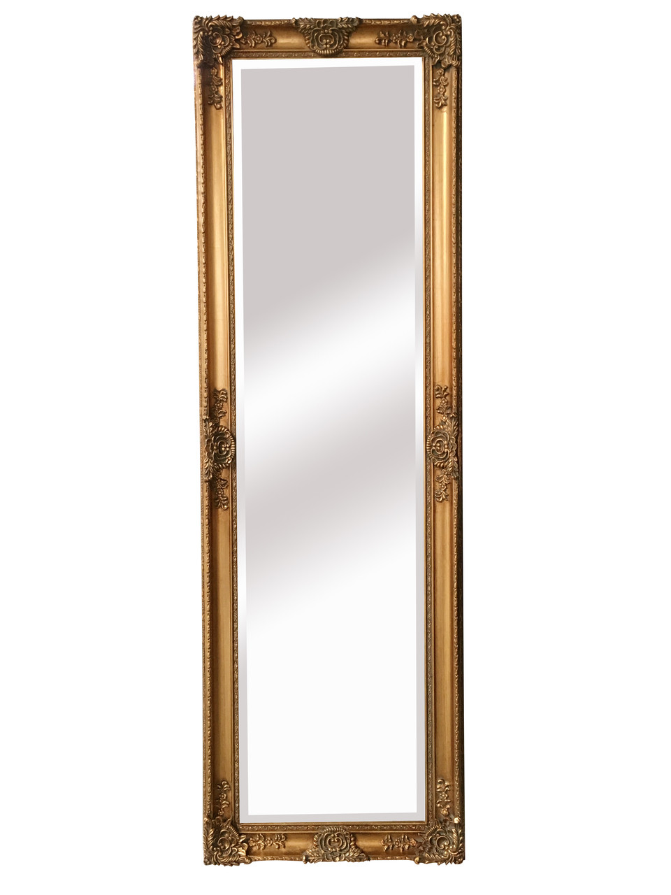 Mayfair Belle French Traditional Antique Gold Full Length Mirror Sbc Decor