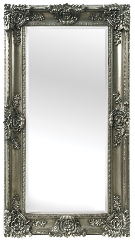 Mayfair French Traditional Antique Silver Full Length Mirror Sbc Decor