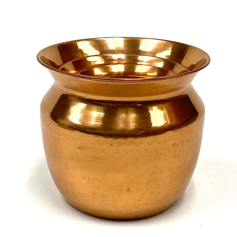 3 Copper Plated Brass Planters