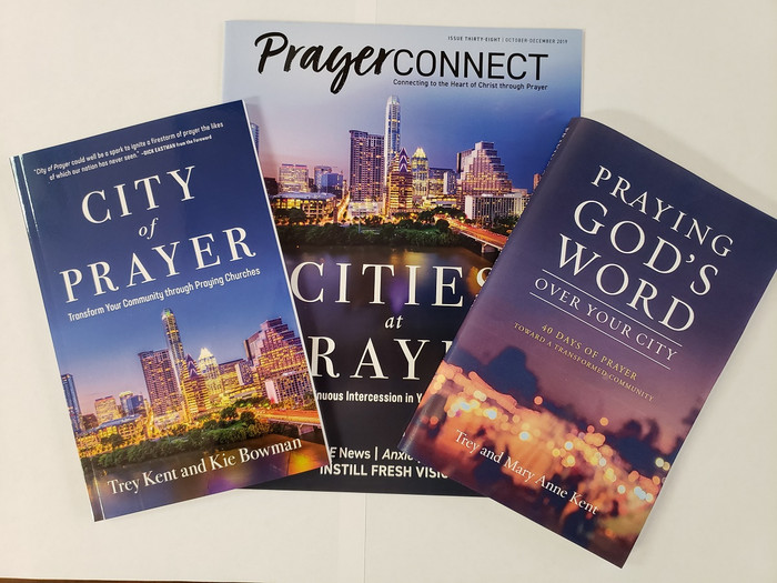 "City Prayer Pack inlcudes ""City of Prayer,"" ""Praying God's Word Over Your City"" and ""Cities at Prayer."""