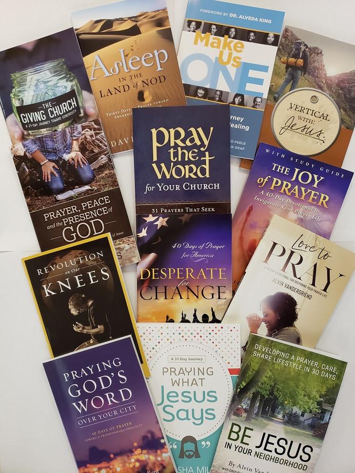 Prayer Initiative Sampler Pack includes a copy of 13 different prayer initiative prayer guides.