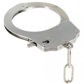 Black Furry Metal Handcuffs