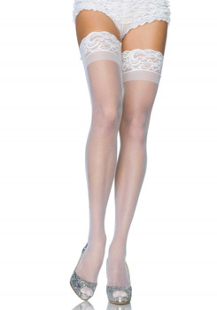 Stay Up Sheer Thigh Highs White O/S