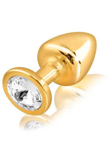 Diogol gold butt plug with Swarovski diamond Medium