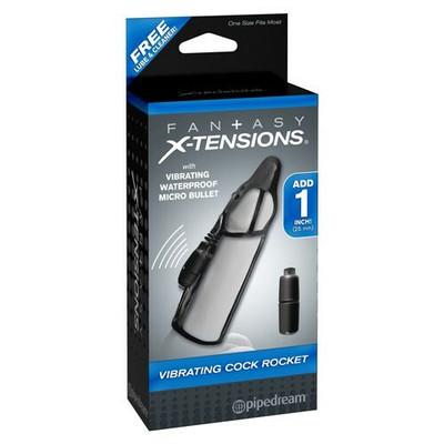 Fantasy X-tensions Vibrating cock Rocket sleeve