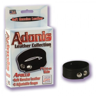 Adonis Leather Adjustable Cock Ring