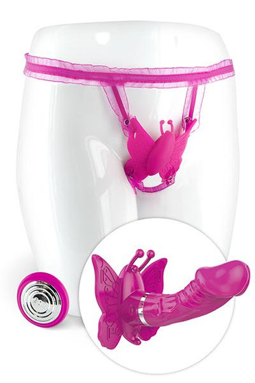 CAMILLE VIBRATING BUTTERFLY PINK