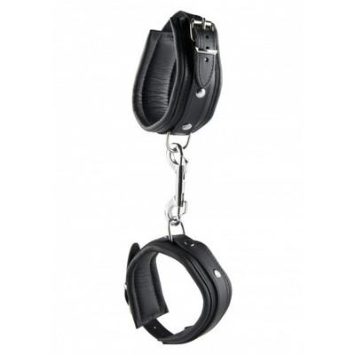 Black Leather Ankle Cuffs 5 cm