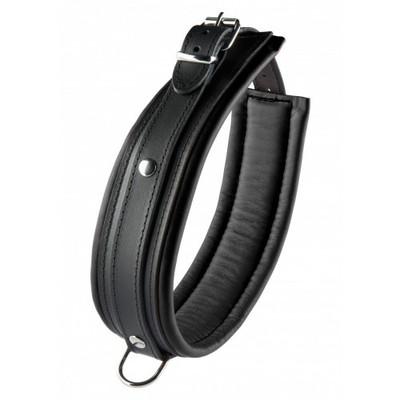 Black Leather Collar 5 cm