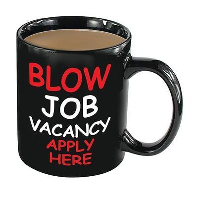 BLOW JOB VACANCY Heat Change coffee Mug