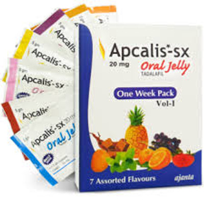 Apcalis Oral Jelly Tadalafil 20mg  (1 week Pack +1) 8pcs (Ελληνική Περιγραφή)